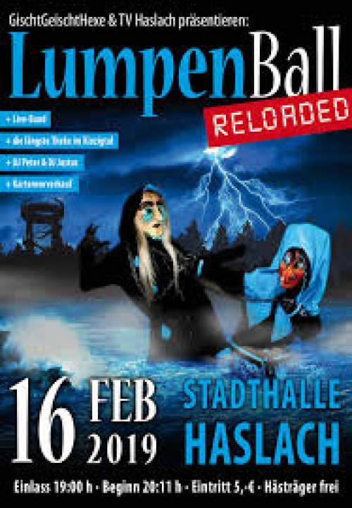 LUMPENBALL RELOADED HASLACH IM KINZIGTAL STADTHALLE